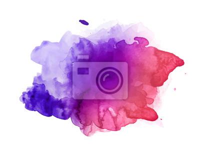 Obraz Piękny kolorowy akwarela plama wektor