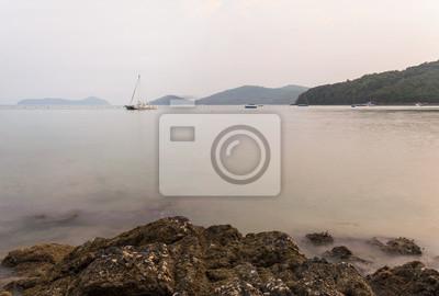 Piękny naturalny krajobraz nadmorski, Lam Panwa, Phuket Tajlandia