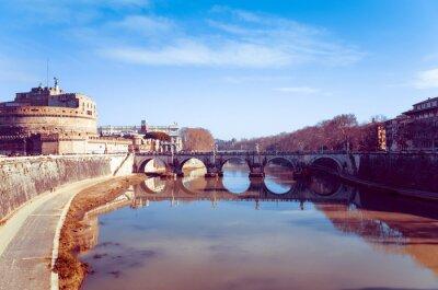 Obraz Piękny widok ulicy starego miasta w Rzymie