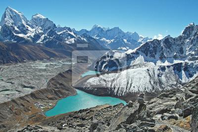 Piękny widok z Gokyo Ri, regionie Everest, Nepal