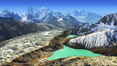 Piękny widok z Gokyo Ri, regionie Everest, Nepalu
