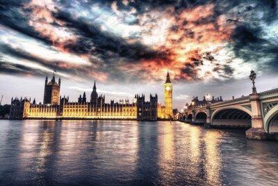 Obraz Piękny widok z Westminster w nocy