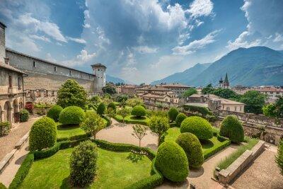 Obraz Piękny włoski ogród z góry