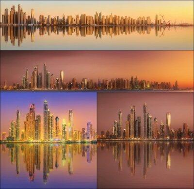 Piękny zestaw pejzaż i kolaż Dubaju