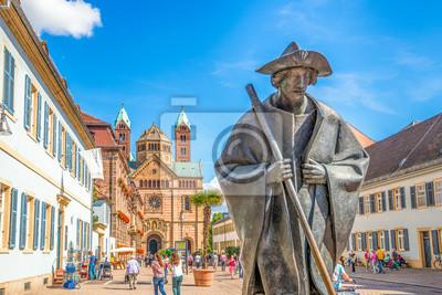Pielgrzymi rysunek i Katedra w Speyer Via Triumphalis