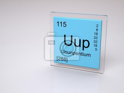 Obraz Pierwiastek okresowego - ununpentium - Uup na wymiar ...  Obraz Pierwiast...