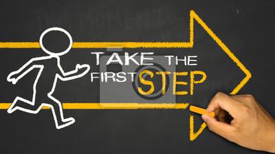 Obraz pierwszy krok