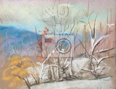 Obraz Pierwszy śnieg w górach