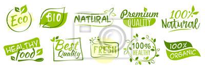 Obraz Pierwszy zestaw naklejek Bio i Eco