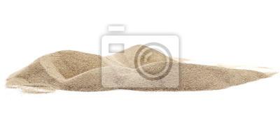 Obraz Pile desert sand dune isolated on white background, clipping path
