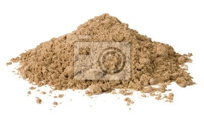 Obraz Pile z piasku samodzielnie na białym tle