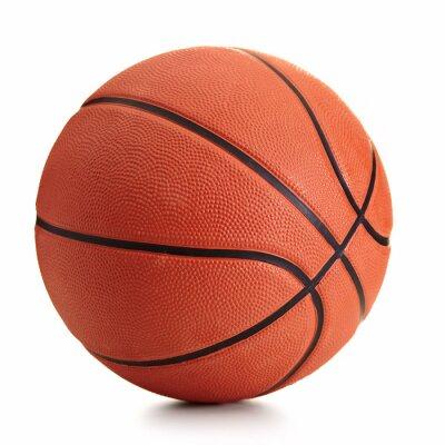 Obraz Piłka do koszykówki na białym tle