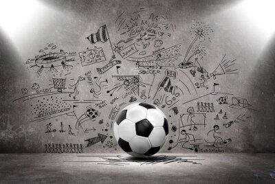 Obraz Piłka nożna doodle