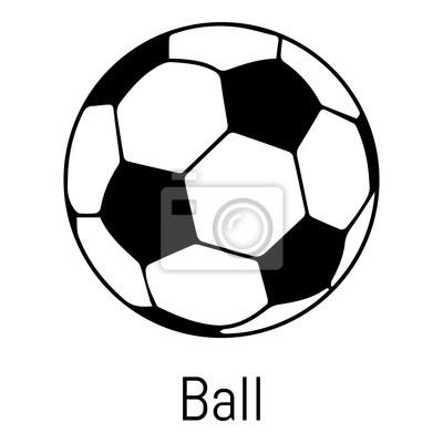 Obraz Piłka nożna ikonę, prosty czarny styl