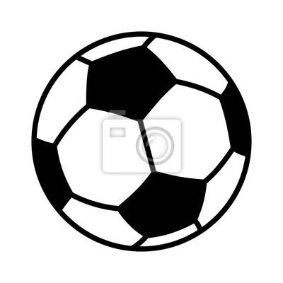 Obraz Piłka nożna lub piłka nożna płaski wektor ikonę dla aplikacji sportowych i stron internetowych