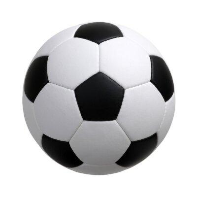 Obraz piłka nożna na biały