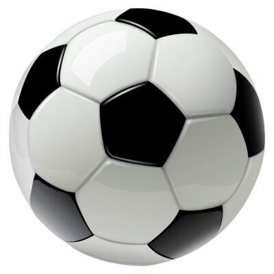 Obraz piłka nożna na białym tle