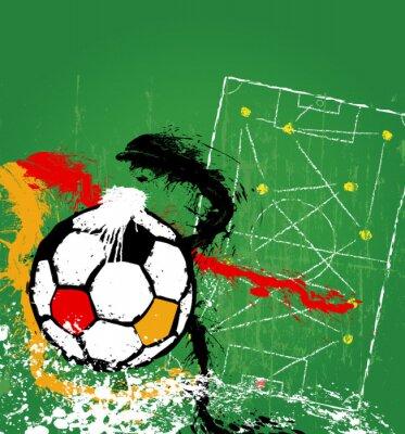 Obraz Piłka nożna / Piłka Ilustracja, Niemcy, wolnego miejsca kopiowania, ilustracji