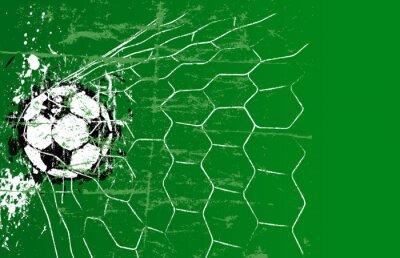 Obraz Piłka nożna / Piłka szablon, wolnego miejsca kopiowania, ilustracji
