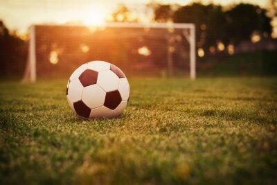 Obraz Piłka nożna słońca