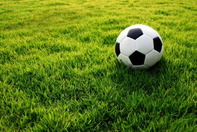 Obraz Piłka nożna zielona trawa