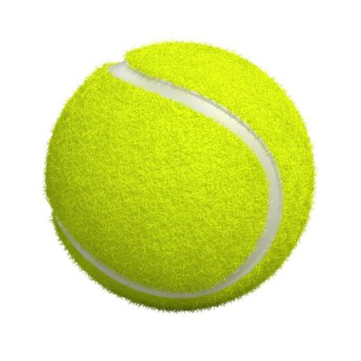 Obraz Piłka tenisowa na białym - 3d render