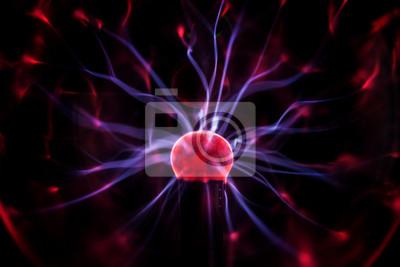Piłka z kolorowymi plamami osoczu, abstrakcyjne tło.