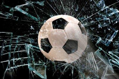 Obraz Piłka za szybą.