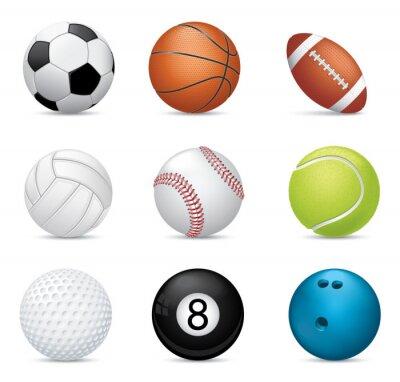 Obraz Piłki sportowe na białym tle