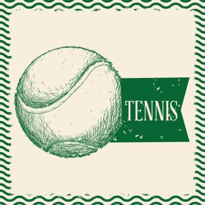 Obraz piłki tenisowe, wektor