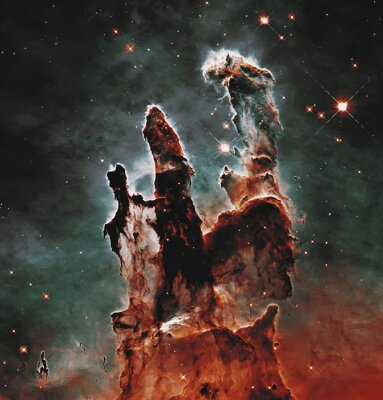 Obraz Pillars of Creation. Elements of this image furnished by NASA.