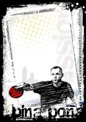 Obraz ping pong 2 tło plakatu