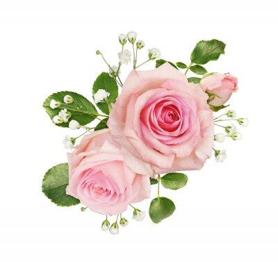 Obraz Pink rose flowers in a floral arrangement