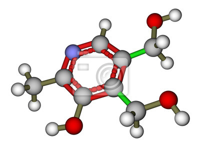Pirydoksyny (witamina B6) struktura molekularna