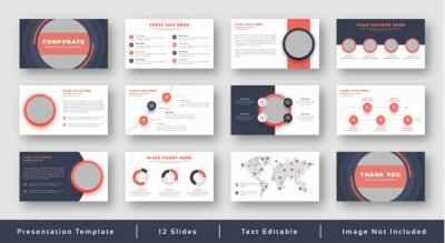 Obraz Pitch decks or minimalist presentations slide for business plans and investments