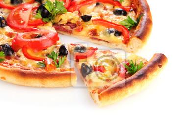 Obraz pizzy samodzielnie na białym tle