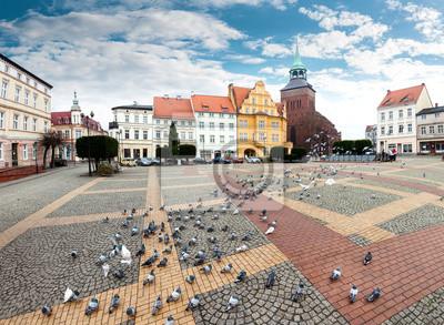 Plac Wolności w Białogardzie.