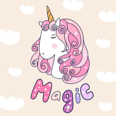 plakat jednorożca magii