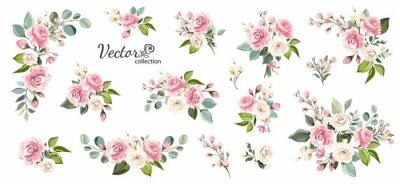 Obraz Plakat kwiatowy, zapraszam.