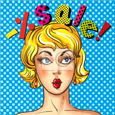 Plakat reklama sprzedaży sztuka pop-artu wektor