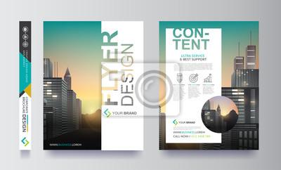 Obraz Plakat ulotka Broszura broszura okładka projektowanie miejsca na tle fotografii, szablon wektora w formacie A4