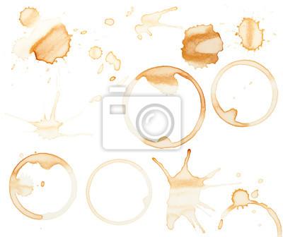 Obraz Plamy kawy i rozpryskuje