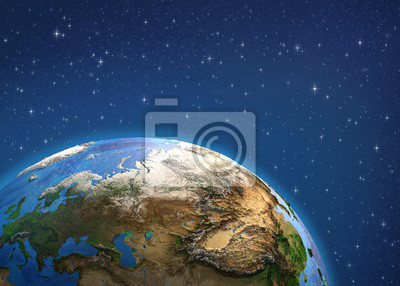 Planet Earth. Europe and Asia from space.