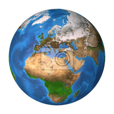 Planeta Ziemia. Europa, Afryka i Azja.