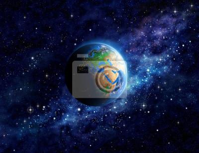 Planeta Ziemia w przestrzeni kosmicznej