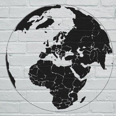Obraz Planisphère sztuka ulicy