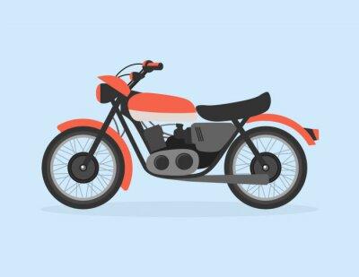 Płaski ilustracja motocykla