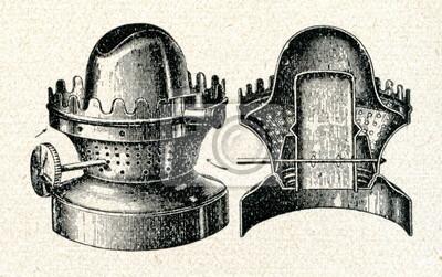 Płaski Knot Lampy Naftowej Palnik Obrazy Redro