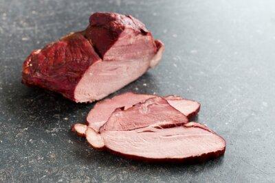 Obraz plasterkach wędzone mięso wieprzowe