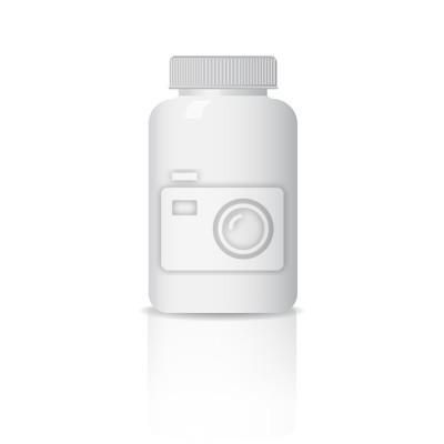 Plastikowa butelka. Układ szablonu. Miejsce dla Twojej marki, czysty design. pojemnik, pudełko na tablety. eps10